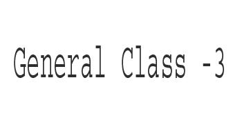General Class - 3
