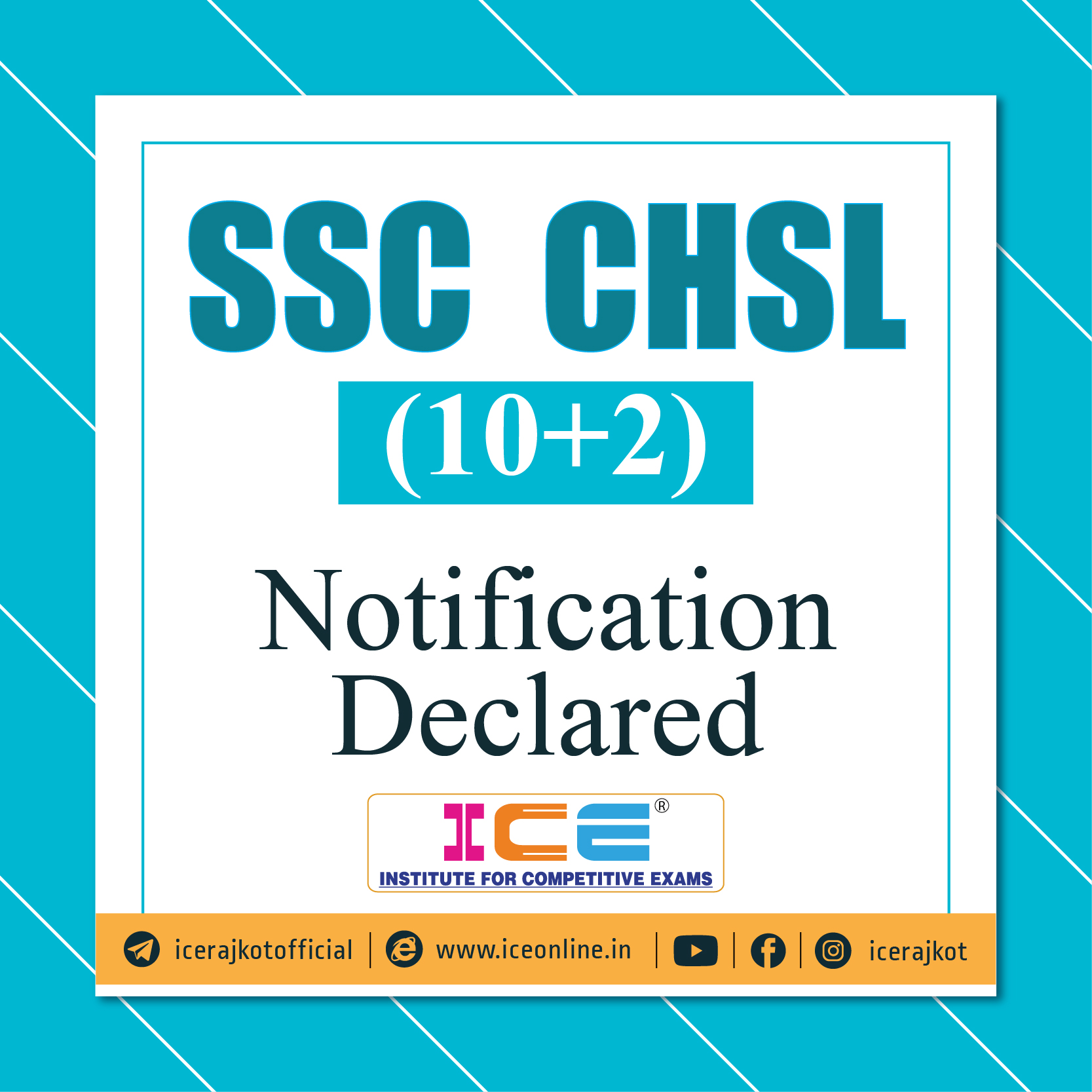 SSC CHSL (10+2) Notification Declared