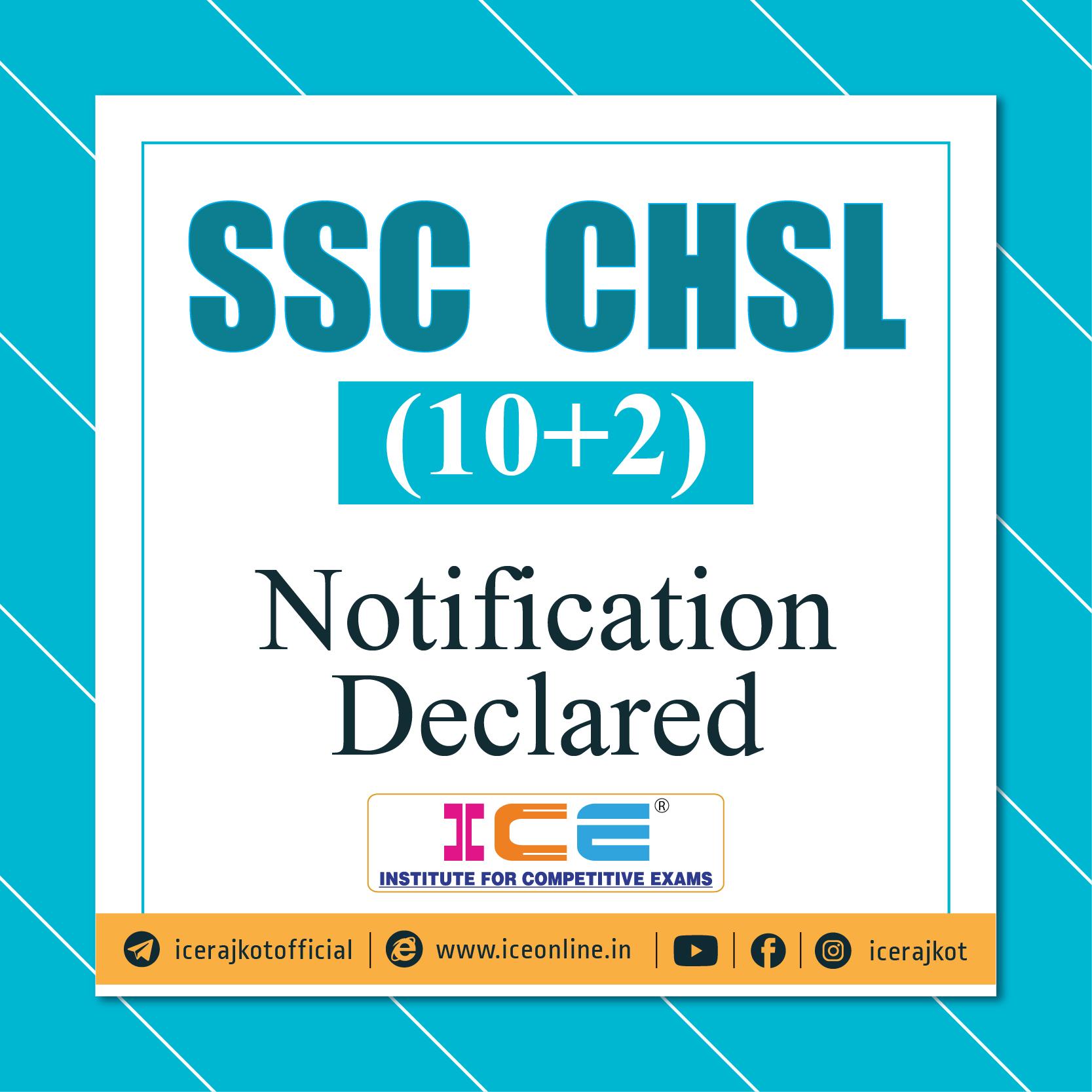 SSC CHSL (10+2) Notification Declared