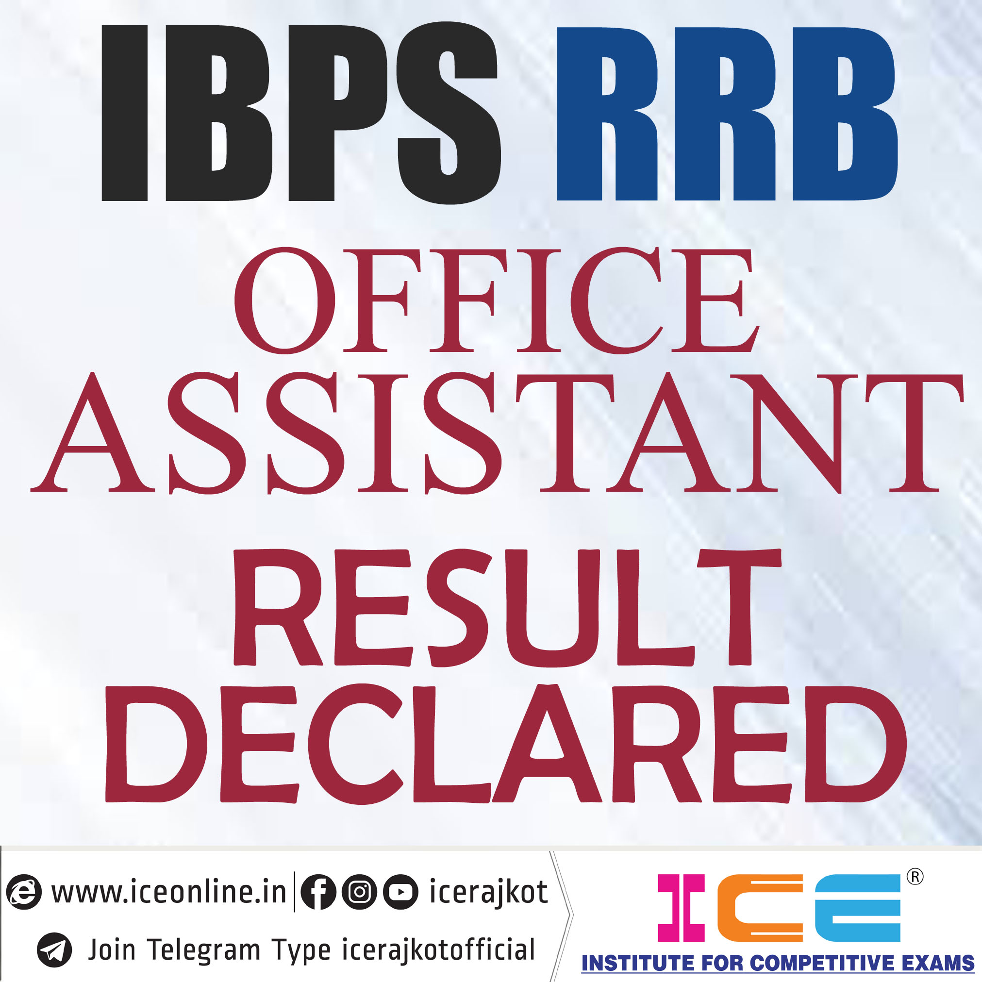 IBPS CRP RRB Office Assistant Result Declare 2019