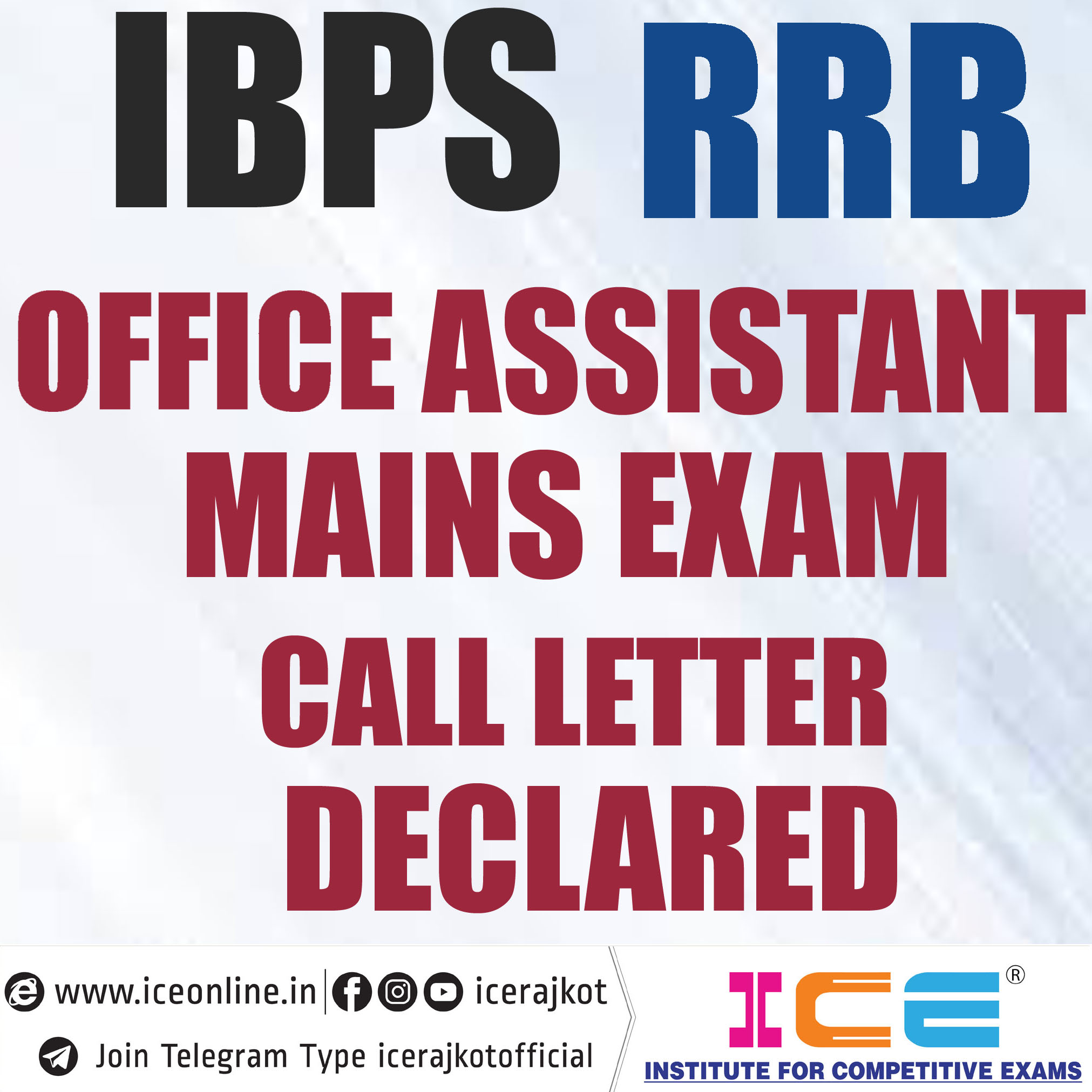 IBPS RRB Office Assistant Mains Exam Call Letter Declare 2019